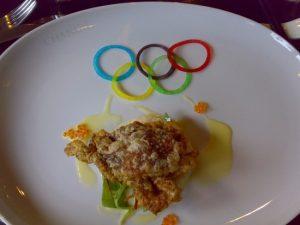 """奥运套餐头盘""""脆蟹沙律"""""""