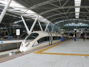 广州站列车待发